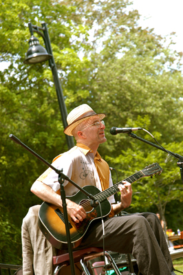 Michael Louis Johnson at the Leslieville Tree Festival in 2007