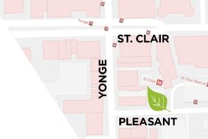 Map of St Clair garden location