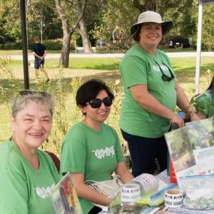 LEAF volunteers hosting an outreach table at the Long Branch Tree Festival in September, 2019