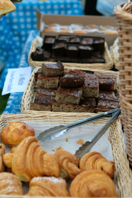 organic baked goods at the Leslieville Tree Festival