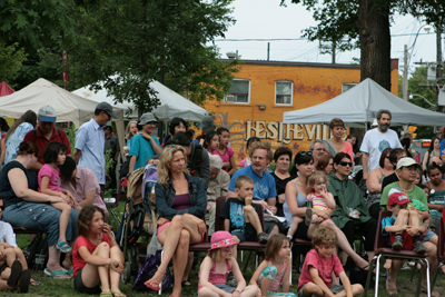 Crowd at the Leslieville Tree Festival