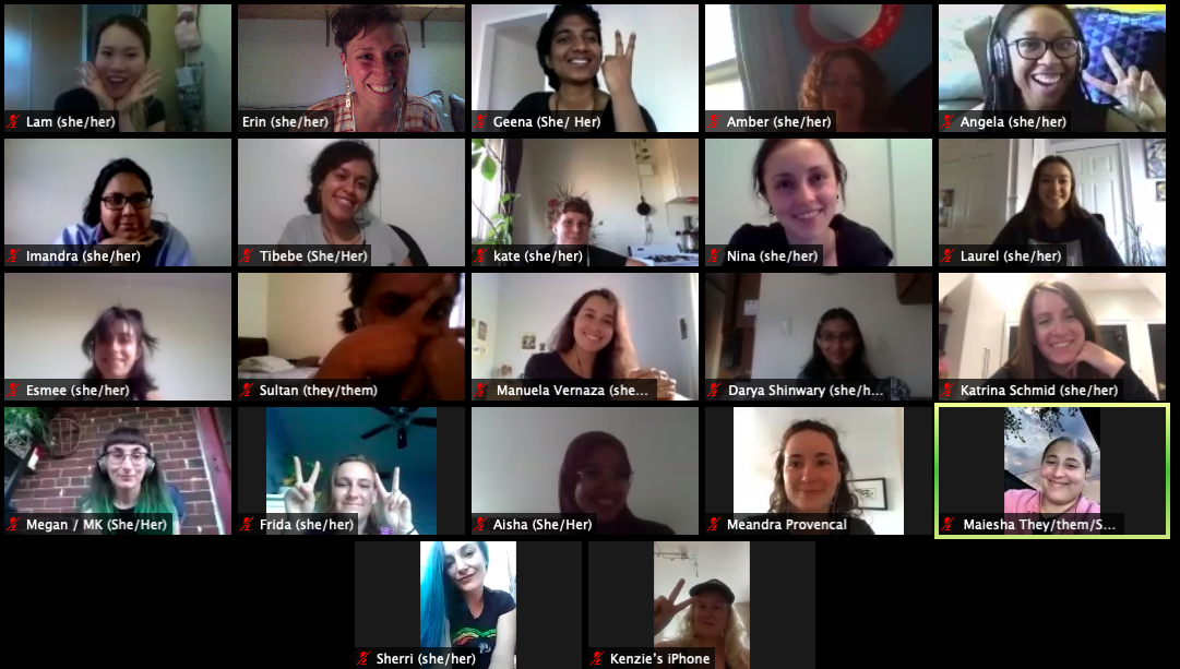 Our young urban forest leaders cohort virtual zoom meeting