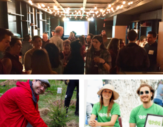 Images of LEAF volunteers and party goers
