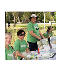LEAF Volunteers staffing an outreach table