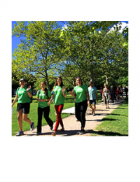 Young Urban Forest Leaders leading a Tree Tour