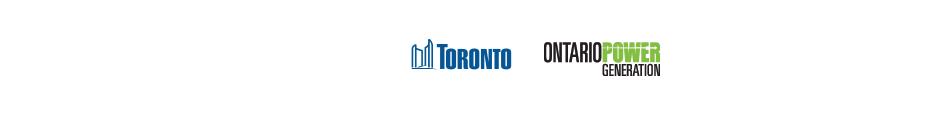 City of Toronto logo and Ontario Power Generation logo