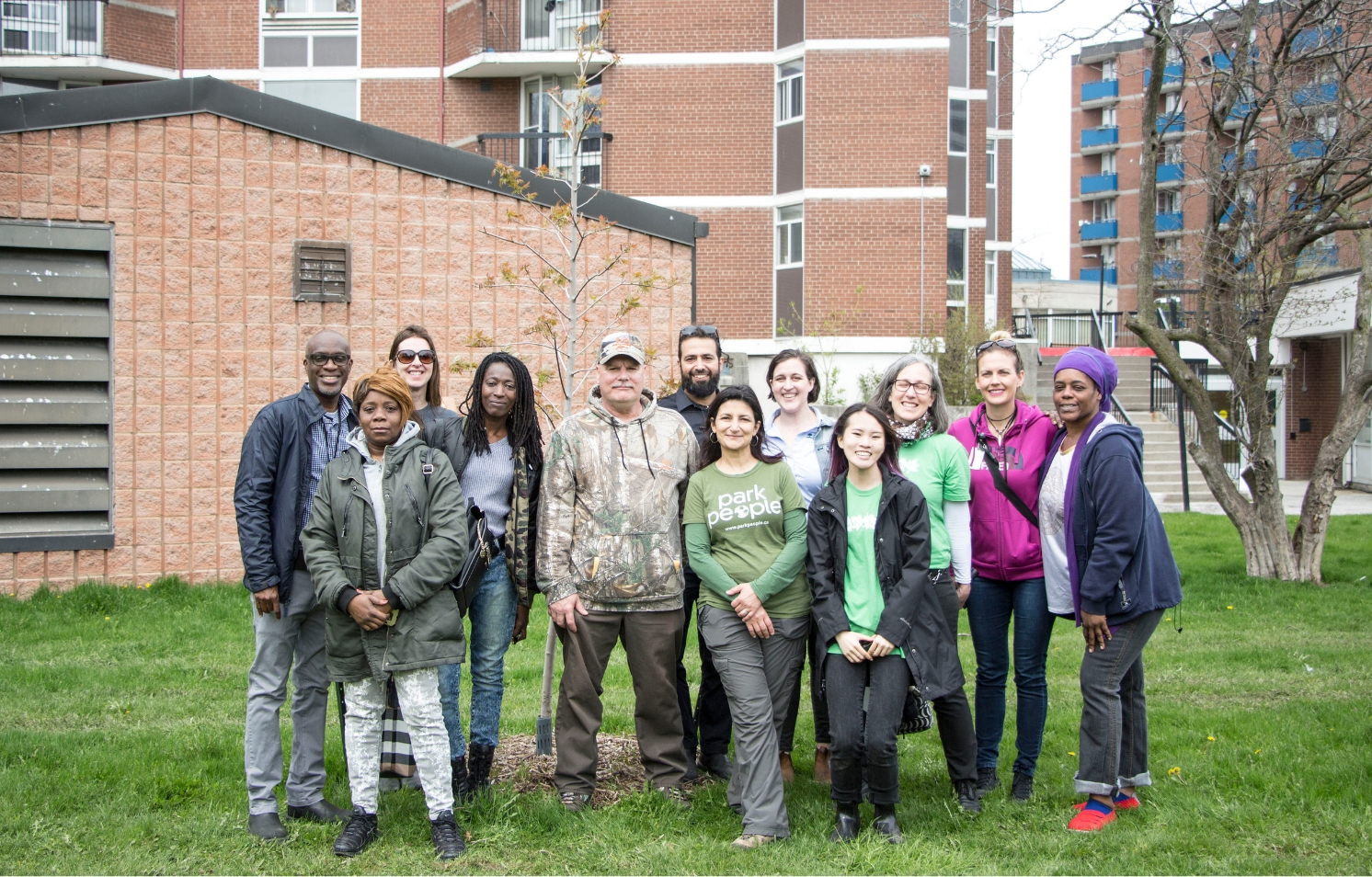 TCHC Planting and Stewardship Initiative partners and participants gather