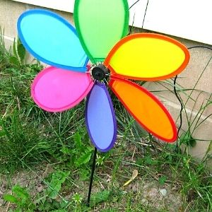 colourful lawn windmill
