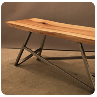 Salvaged wood table in Toronto